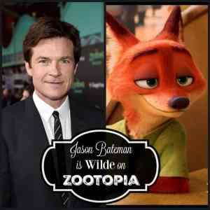 Jason Bateman is Wilde on Zootopia