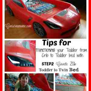 Tips for Transitioning Your Toddler from Crib To Bed with Step 2 Corvette Bed