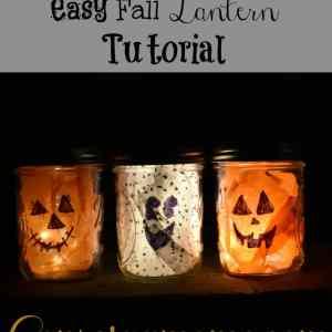Easy Fall Lantern Tutorial