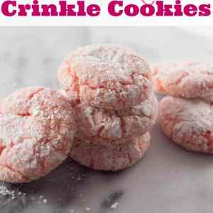 Blush Rose Crinkle Cookies : Delicious & EASY!