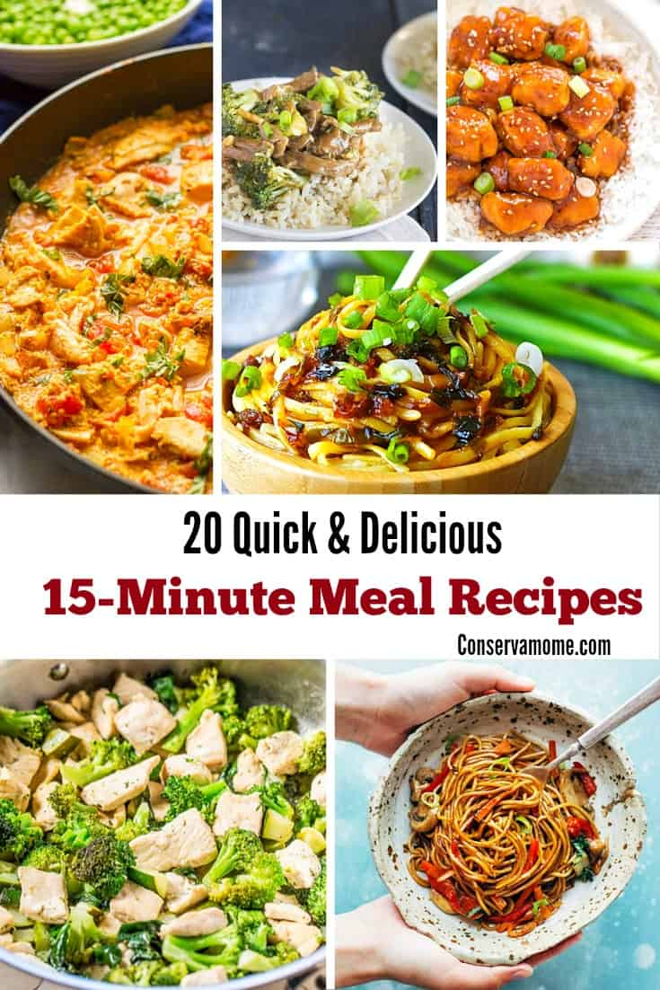 15 minute meal recipes
