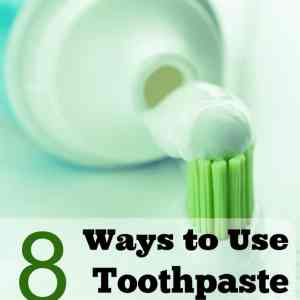 8 Ways to Use Toothpaste to Clean Your Home