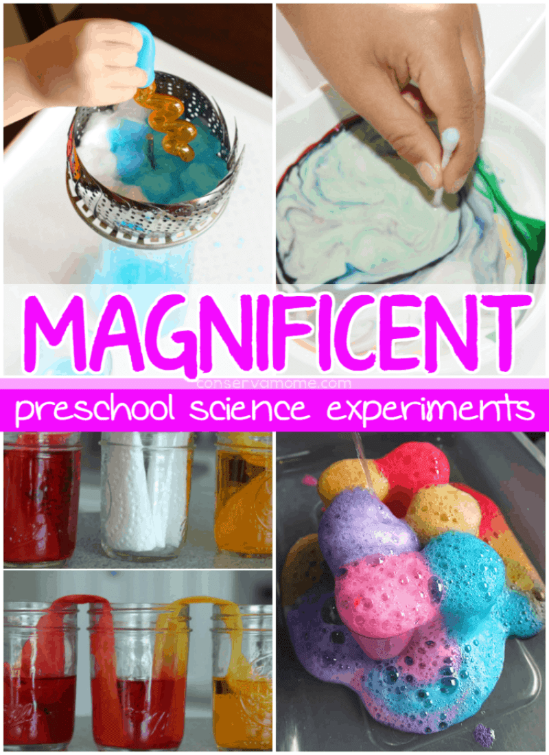 Preschoolers are always looking for adventure and excitement, why not teach them with fun? Check out Magnificent Preschool Experiments to help your preschooler learn!