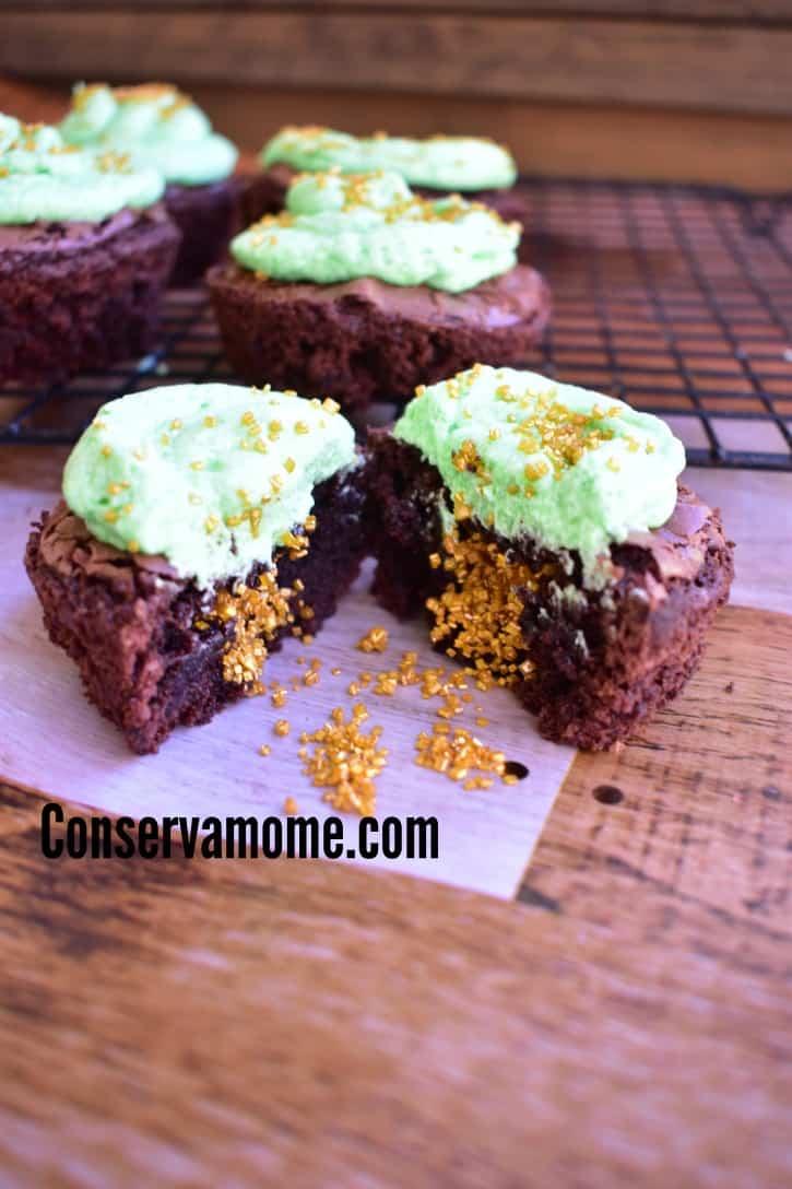 shamrock brownie cupcakes 9