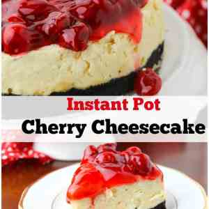 Instant Pot Cherry Cheesecake