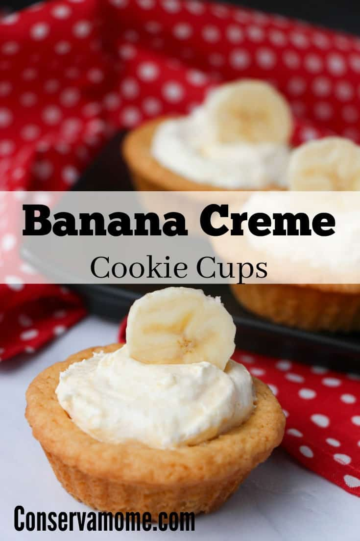 These delicious Banana Cream Cookie Cups are going to be the hit of any gathering. Check out how easy it is to make them.