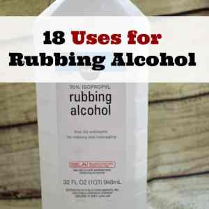 18 Uses for Rubbing Alcohol