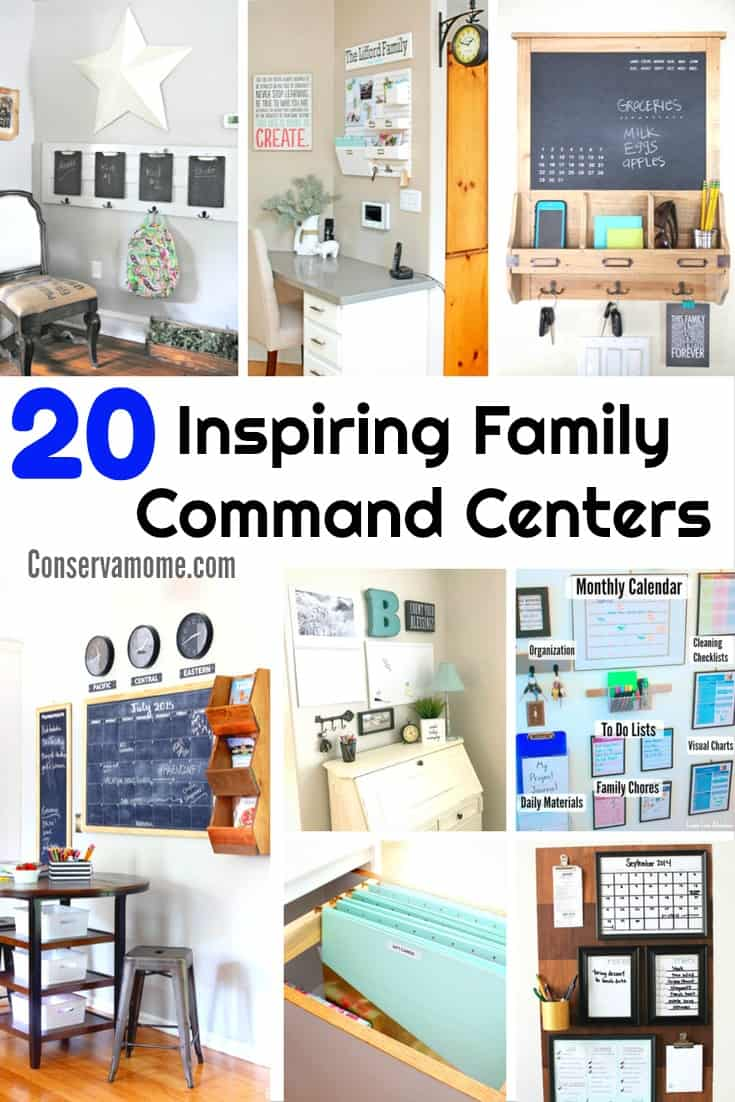 Are you looking for ways to get your family activities organizad? Here are20 Inspiring Family Command Centers to help you get everyone where they need to on time. | Organization ideas