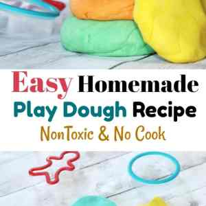 Easy Homemade Play Dough Recipe: Non Toxic No Cook