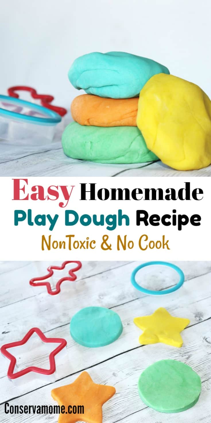 Kids love to get creative with Play dough. Here's your chance to make anEasy Homemade Play Dough Recipe that is also Non Toxic & No Cook! Check out the hours of fun your kids will have with this fun recipe!