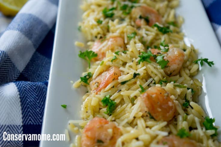 This Easy and Delicious Shrimp Scampi Orzo will be a huge hit at any meal. Check out how tasty this recipe can be!