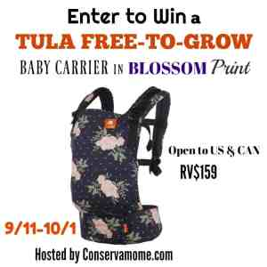 Tula Free To Grow Baby Carrier Giveaway ends 10/1