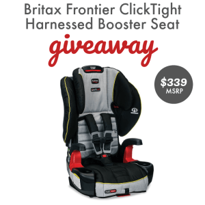Britax Frontier ClickTight Harness-2-Booster Car Seat Giveaway ends 10/3