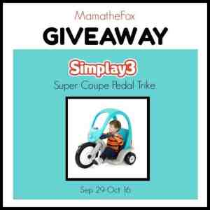 Simplay3 Super Coupe Pedal Trike Giveaway ends 10/16