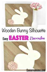 Wooden Bunny Silhouette Decoration - Easy Easter ...