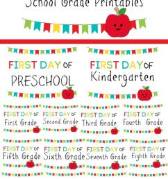 ConservaMom - Free Printable First Day of School Signs PreK-12th Grade -  ConservaMom [ 1125 x 750 Pixel ]