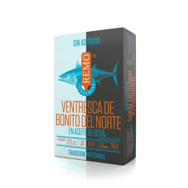 Ventresca de Bonito del Norte en Aceite de Oliva. Lata 111 g