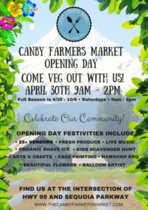 Canby Farmers Market OPENING DAY FLYER (Small)