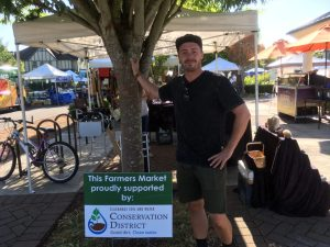 Chris Perry manages the Wilsonville Thursday and Sunday Farmers Market.