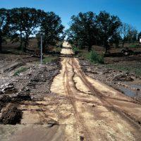Soil erosion on steep slope