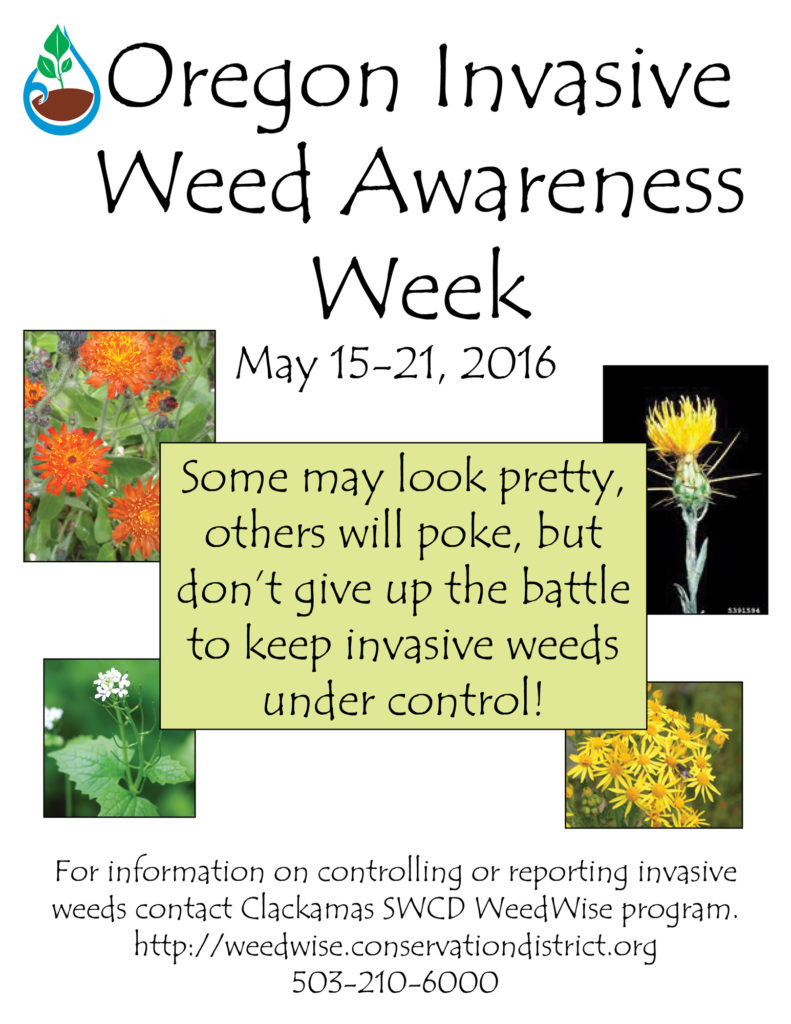 Weed awareness week 2016