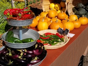 Farmers market season often last until October.