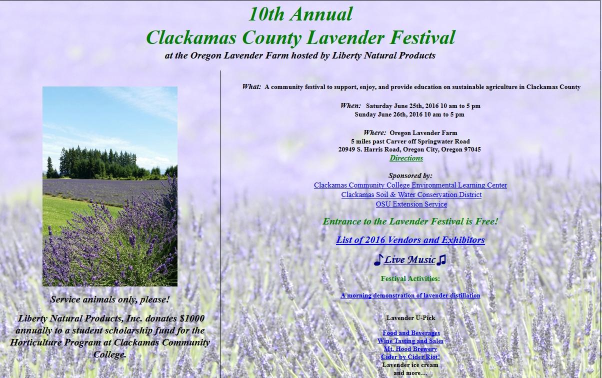 lavender festival 2016 - Clackamas SWCD