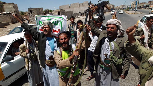 Shiite militia have taken over much of Northwestern Yemen and have now seized the capitol.