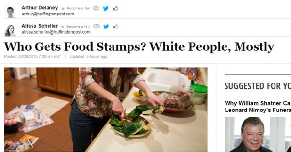 Percentage Of Blacks On Food Stamps