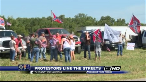 Locals welcome Obama to Oklahoma