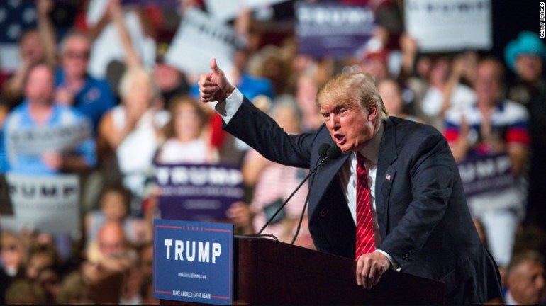 Donald Trump brings down the house in Phoenix