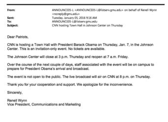 hall town invitation meeting email invite cnn gun control event obama open propaganda confirmed memo illinoiscarry mason george