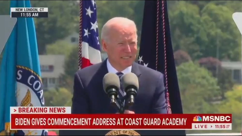 Joe Biden Calls Coast Guard Class 'Dull' for Not Clapping at Line He Stole from Dick Cheney