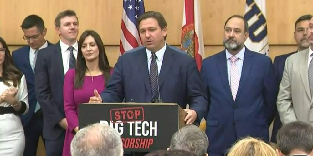 Ron DeSantis Signs Law Allowing Florida Citizens to Sue for up to $100,000 Over Big Tech Censorship