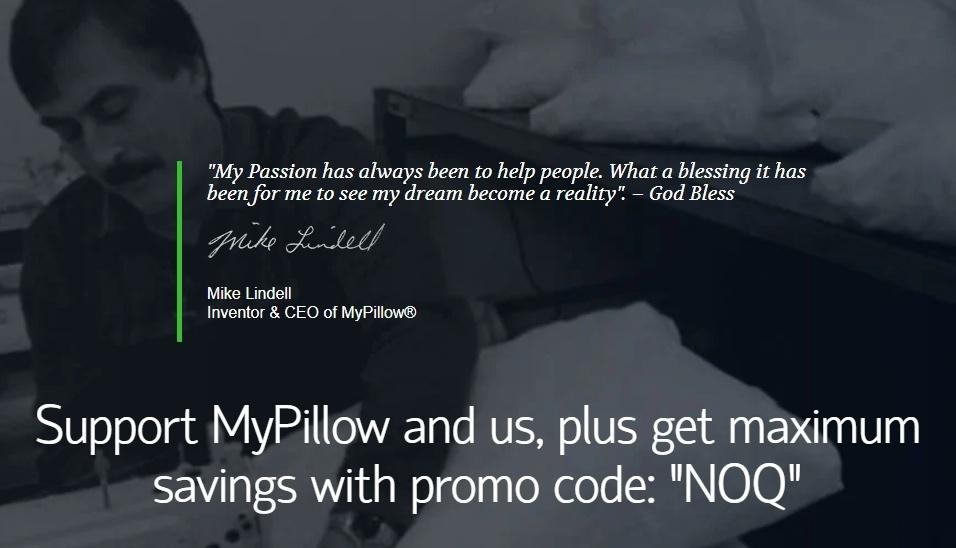 MyPillow Promo Code NOQ