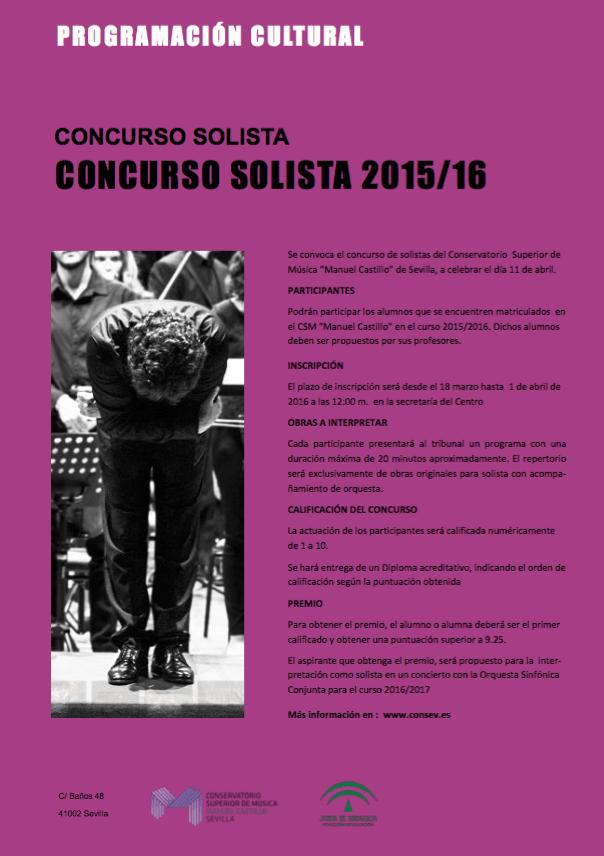 Bases del concurso solista — curso 2016-27