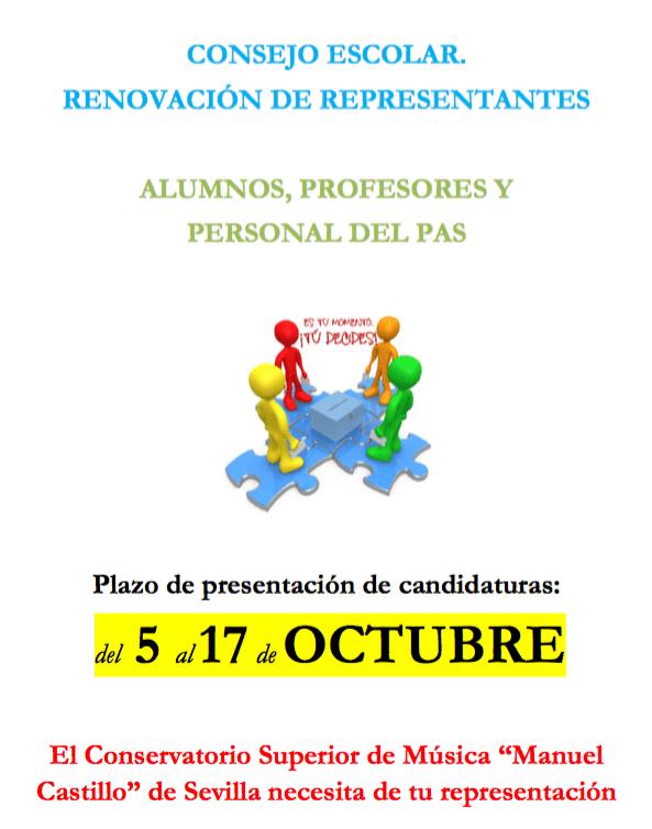 Elecciones al Consejo Escolar – octubre 2016