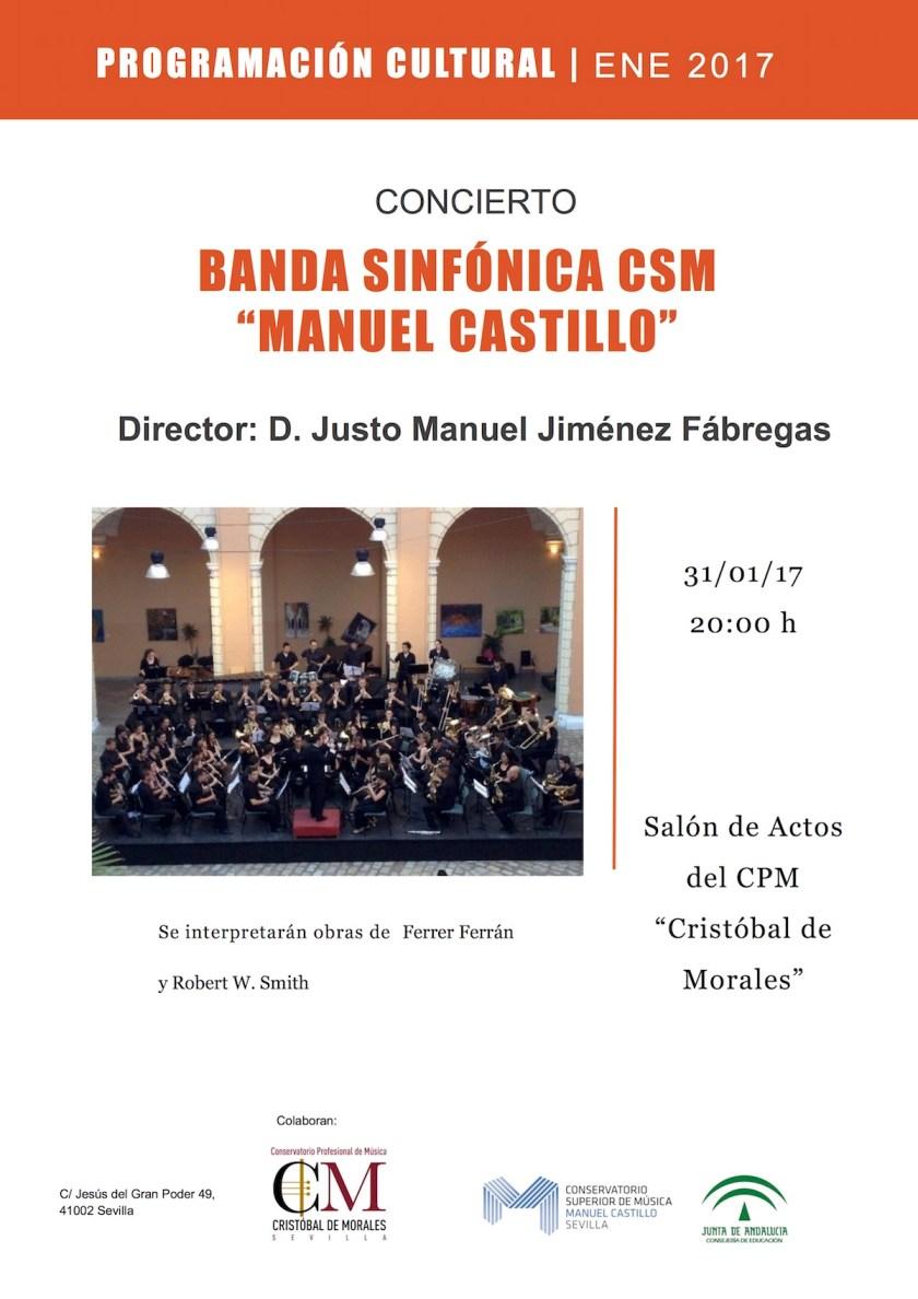 Concierto de la Banda Sinfónica: 31 de enero
