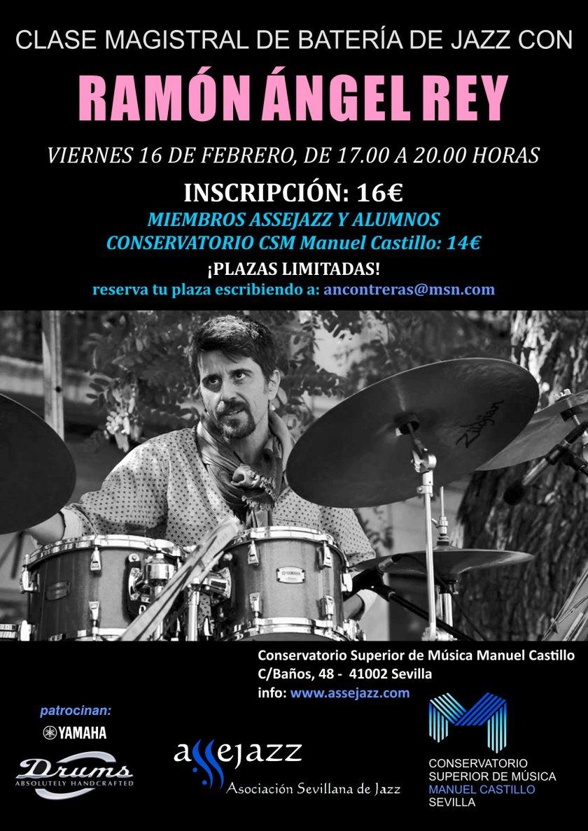 Clase magistral de batería de jazz — Ramón Ángel Rey