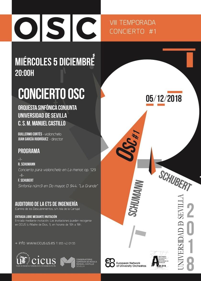 Primer concierto de la temporada 2018-2019 de la Orquesta Sinfónica Conjunta (OSC)