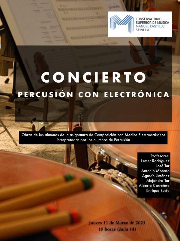 Concierto percusion electroacustica