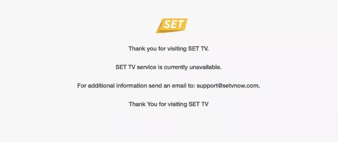 SET TV Is Unavailable SET TV service is currently unavailable Consider The Consumer