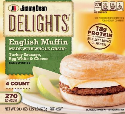 Jimmy Dean Delights English Muffins Whole Grain Class Action Lawsuit