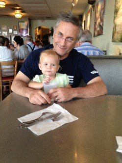 Daddy and Eden at Romes...our family hangout. Can anyone say gluten-free pizza?