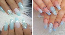 Unghie azzurre: consigli, tendenze, nail art, foto