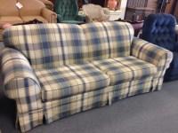 broyhill plaid sofa