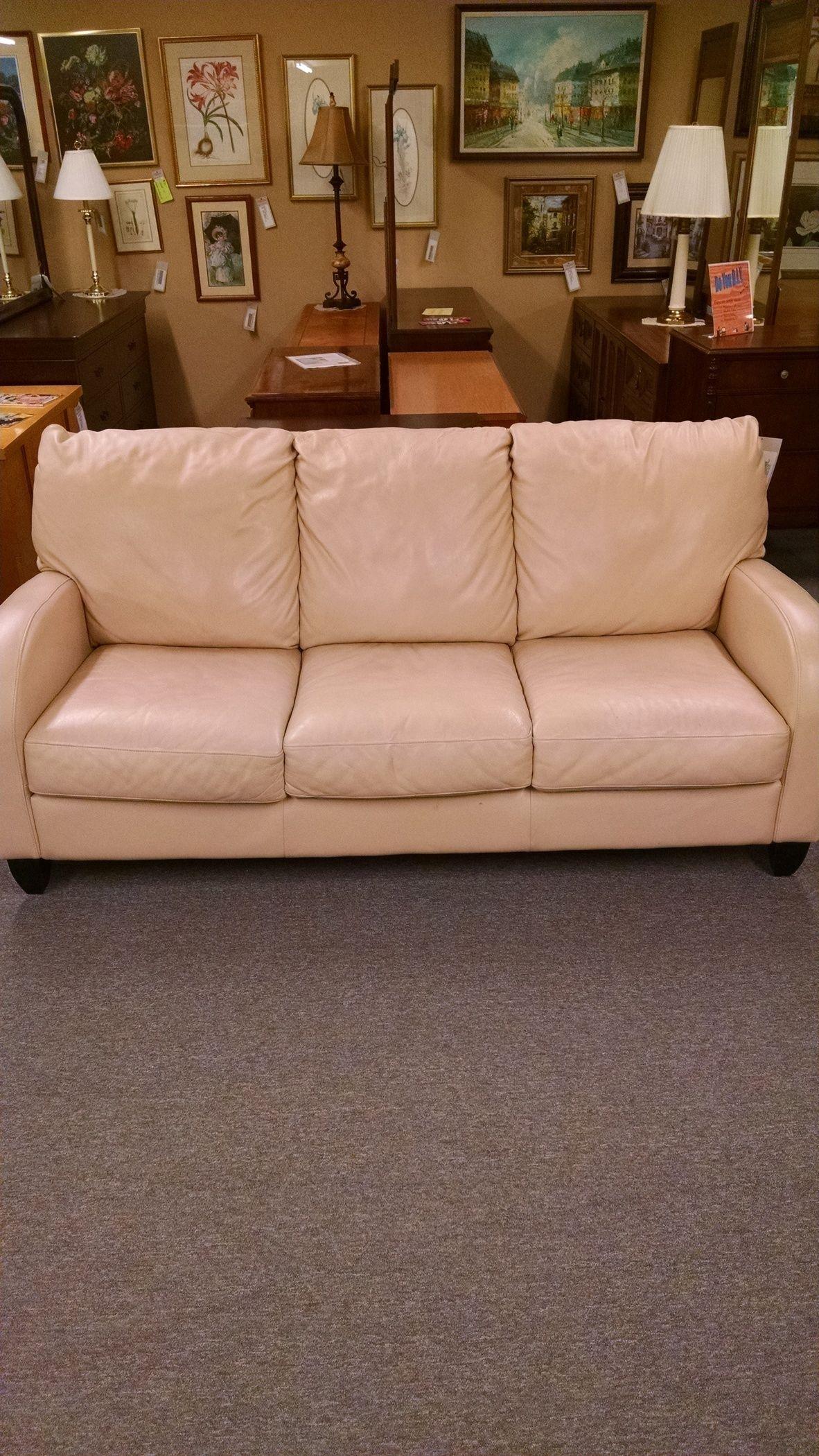 cream colored leather sofas sofa protector for dogs color delmarva furniture consignment