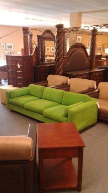 Green Corduroy Sectional Sofa