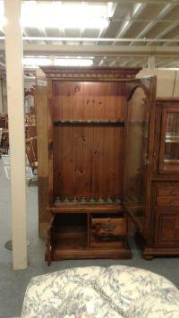 PINE GUN CABINET BY KLING | Delmarva Furniture Consignment