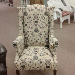 Colonial Wingback Sofas Leather Sofa Orange County Ca Style Chair Delmarva Furniture Consignment
